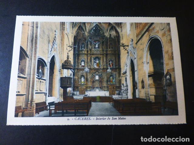CACERES INTERIOR DE SAN MATEO ED. L. ROISIN COLOREADA (Postales - España - Extremadura Antigua (hasta 1939))