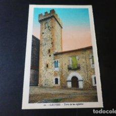 Postales: CACERES TORRE DE LAS CIGÜEÑAS ED. L. ROISIN COLOREADA. Lote 235814270