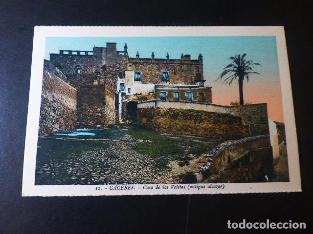 CACERES CASA DE LOS VELETAS ANTIGUO ALCAZAR ED. L. ROISIN COLOREADA (Postales - España - Extremadura Antigua (hasta 1939))