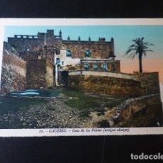 Postales: CACERES CASA DE LOS VELETAS ANTIGUO ALCAZAR ED. L. ROISIN COLOREADA. Lote 235814580