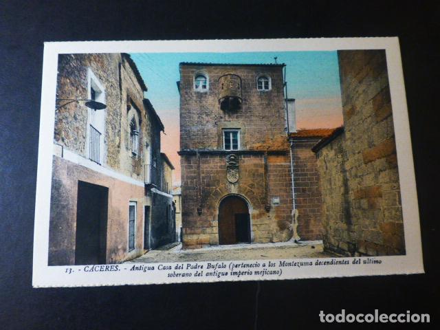 CACERES ANTIGUA CASA DEL PADRE BUFALO ED. L. ROISIN COLOREADA (Postales - España - Extremadura Antigua (hasta 1939))