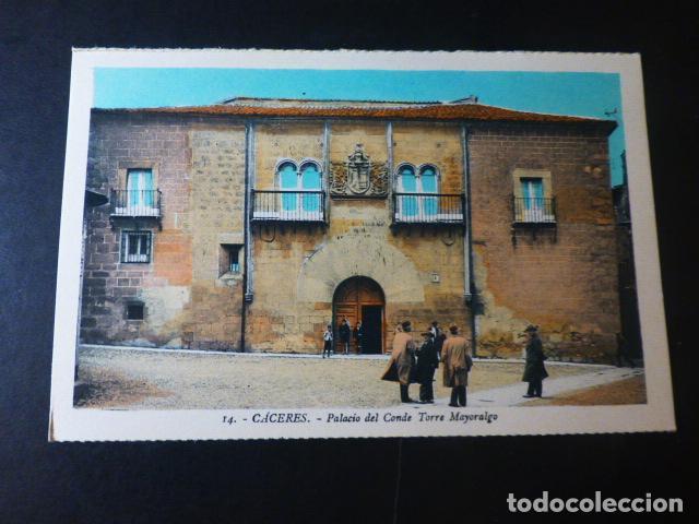CACERES PALACIO DEL CONDE TORRE MAYORALGO ED. L. ROISIN COLOREADA (Postales - España - Extremadura Antigua (hasta 1939))