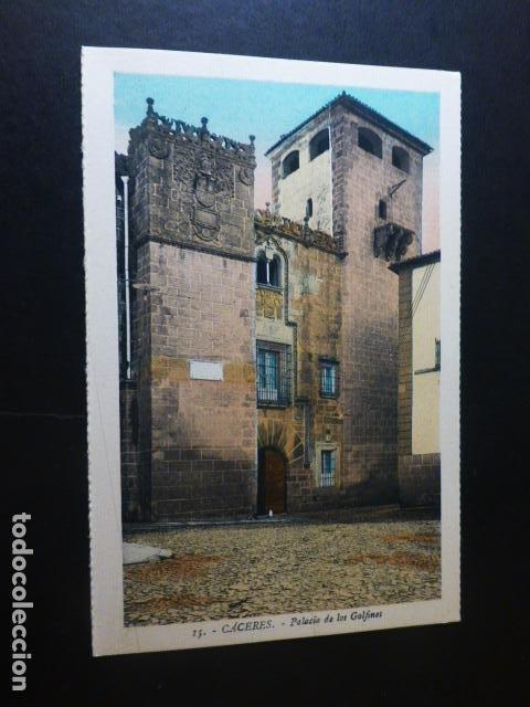CACERES PALACIO DE LOS GOLFINES ED. L. ROISIN COLOREADA (Postales - España - Extremadura Antigua (hasta 1939))