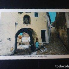 Postales: CACERES ARCO DEL CRISTO ED. L. ROISIN COLOREADA. Lote 235815905