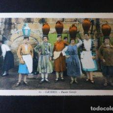 Postales: CACERES FUENTE CONSEJO ED. L. ROISIN COLOREADA. Lote 235816005