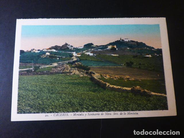 CACERES MONTAÑA Y SANTUARIO DE NUESTRA SEÑORA DE LA MONTAÑA ED. L. ROISIN COLOREADA (Postales - España - Extremadura Antigua (hasta 1939))