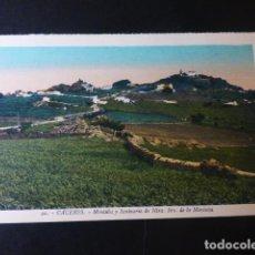 Postales: CACERES MONTAÑA Y SANTUARIO DE NUESTRA SEÑORA DE LA MONTAÑA ED. L. ROISIN COLOREADA. Lote 235816200