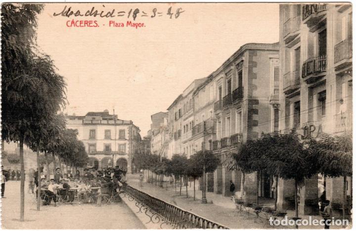 BONITA POSTAL - CACERES - PLAZA MAYOR (Postales - España - Extremadura Antigua (hasta 1939))