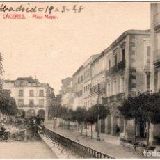 Postales: BONITA POSTAL - CACERES - PLAZA MAYOR. Lote 235847085
