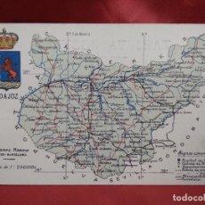 Postales: POSTAL GEOGRÁFICA MAPA BADAJOZ. S/C. POSTAL-1791. Lote 236378855