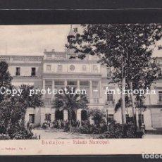 Postales: ¡OPORTUNIDAD! - BADAJOZ - PALACIO MUNICIPAL. NO. 6. Lote 237492580