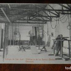 Postales: POSTAL DE VILLAFRANCA DE LOS BARROS, BADAJOZ, COLEGIO DE SAN JOSE, GIMNASIO, FOTO L. SAUS VANDERMAN,. Lote 241840185