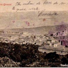 Postales: POSTAL HERVÁS (CÁCERES) VISTA GENERAL - CON SELLO (MATASELLO 14 JULIO 1914). Lote 243149745