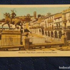Postales: TRUJILLO 5 PLAZA MAYOR Y ESTATUA DE FRANCISCO PIZARRO. EDIC ARRIBAS.. SIN CIRCULAR. Lote 243248170