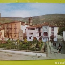 Postales: BAÑOS DE MONTEMAYOR JARDINES HERNAN CORTES ED ARRIBAS SC Nº 2001 CACERES EXTREMADURA DORSO MANCHADO. Lote 245468370