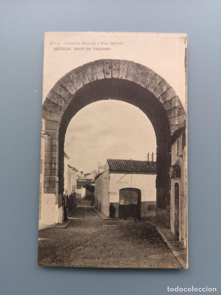 POSTAL MERIDA Nº 2 ARCO DE TRAJANO EDIC COLECCION BOCCÓNI Y DIEZ PERFECTA CONSERVAC BADAJOZ (Postales - España - Extremadura Antigua (hasta 1939))