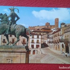 Postales: POST CARD 7 TRUJILLO CÁCERES PLAZA MAYOR MONUMENTO A PIZARRO MONUMENT, MAIN SQUARE, SPAIN ESPAGNE.... Lote 254669360