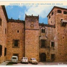 Postales: EM0556 CACERES PALACIO DE LOS GOLFINES DE ABAJO 1967 BEASCOA Nº27 4CV RENAULT 4. Lote 255342085