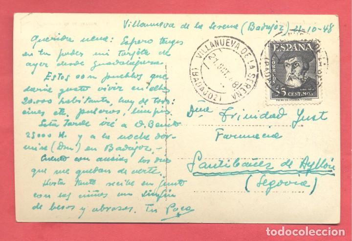 Postales: villanueva de la serena(badajoz) 10 vista parcial, ed. arribas, circulada 1948, ver fotos - Foto 2 - 258802190