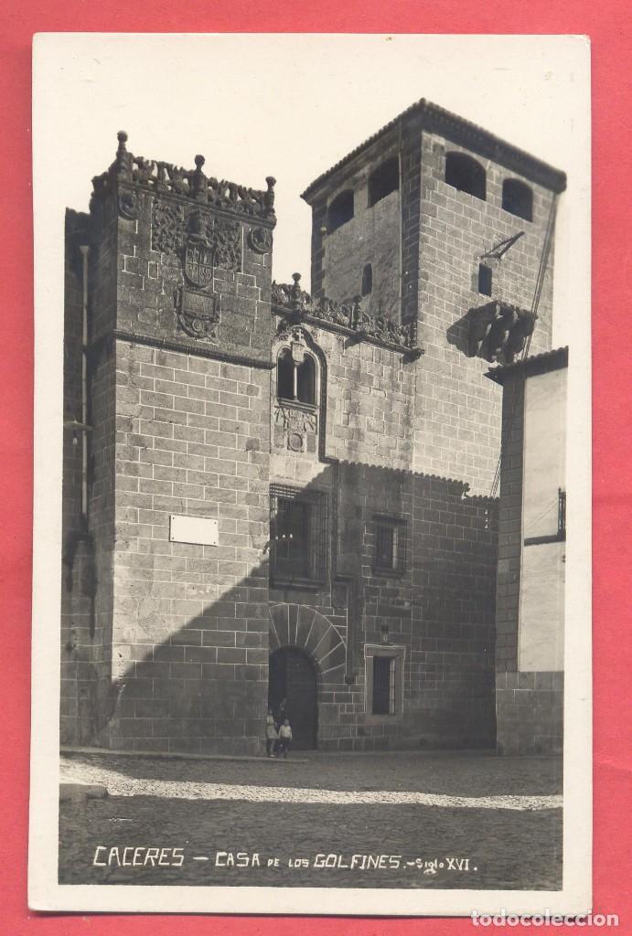 CACERES CASA DE LOS GOLFINES .SIGLO XVI EDI. GM / B W, SIN CIRCULAR,VER FOTOS (Postales - España - Extremadura Antigua (hasta 1939))