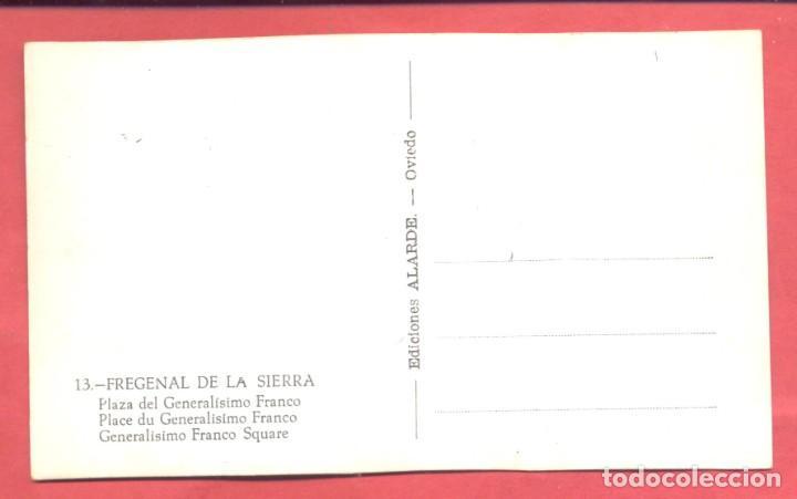 Postales: fregenal de la sierra (badajoz) 13 plaza del generalisimo franco, ed. alarde,s/c ver fotos - Foto 2 - 258865660