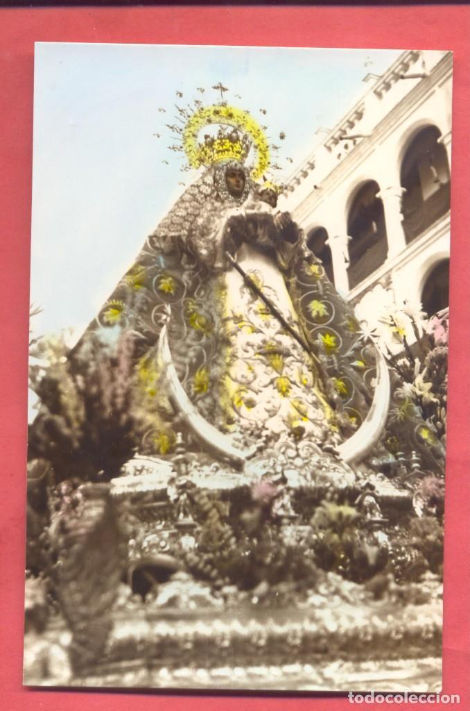 LLERENA (BADAJOZ) NTRA. SRA, DE LA GRANADA, ED. SANTA FE COLOREADA,FIRMADA EN REVERSO POR EL PARROCO (Postales - España - Extremadura Antigua (hasta 1939))
