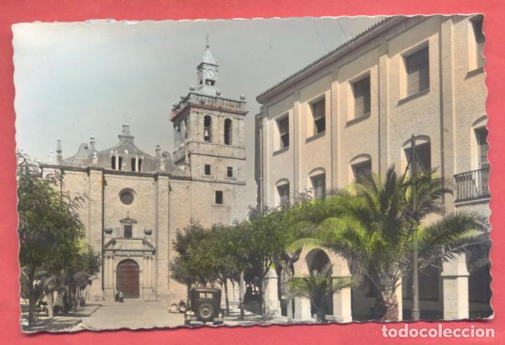 VILLANUEVA DE LA SERENA (BADAJOZ) 4 PLAZA DE ESPAÑA, LIBRERIA MORCILLO, DENTADA, COLOREADA, S/C, (Postales - España - Extremadura Antigua (hasta 1939))