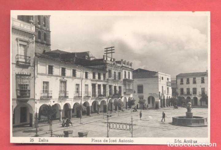 ZAFRA (BADAJOZ) 25 PLAZA DE JOSE ANTONIO, EDC. ARRIBAS, SIN CIRCULAR, VER FOTOS (Postales - España - Extremadura Antigua (hasta 1939))