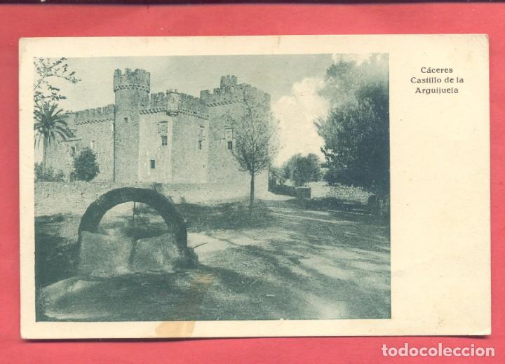 CACERES, CASTILLO DE LA ARGUIJUELA ,,ED.EULOGIO BLASCO, VERSION VERDE, VER FOTOS (Postales - España - Extremadura Antigua (hasta 1939))