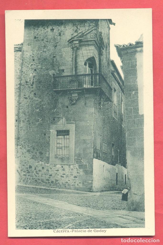 CACERES, PALACIO DE GODOY ,,ED.EULOGIO BLASCO, VERSION VERDE, S/C VER FOTOS (Postales - España - Extremadura Antigua (hasta 1939))
