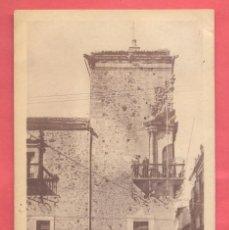 Postales: 10 CACERES CASA DE ROCO. ACTUAL CASINO CONCORDIA, CIRCULADA 1950, VER FOTOS. Lote 258972845