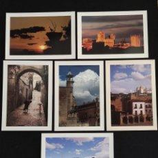 Postais: LOTE 6 POSTALES EXTREMADURA CÁCERES TRUJILLO - FOTOGRAFÍA MODESTO GALÁN, 1995 TECNIGRAF. Lote 262245015