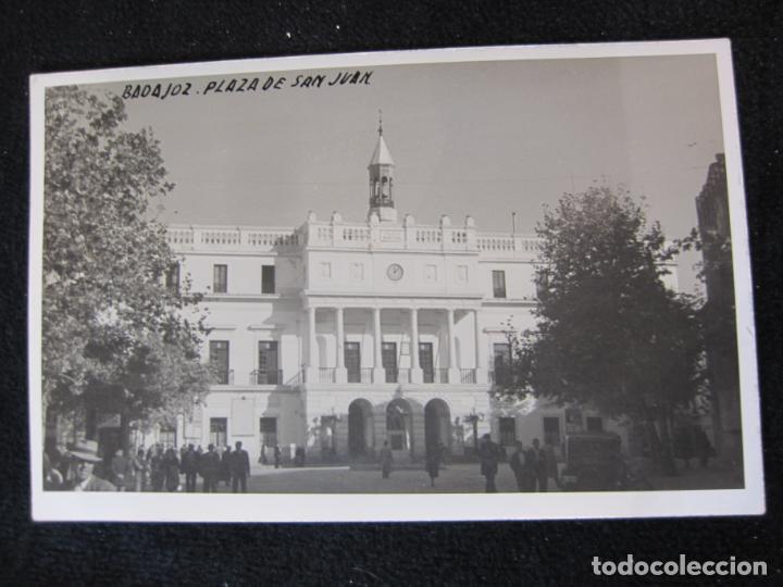 Postales: BADAJOZ-PLAZA DE SAN JUAN-FOTOGRAFICA-POSTAL ANTIGUA-(80.379) - Foto 4 - 262278655