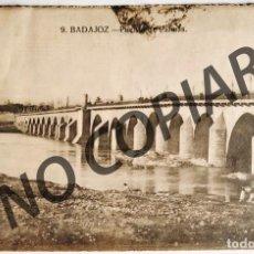 Postales: ANTIGUA POSTAL DE BADAJOZ. PUENTE DE PALMAS. 1924. ESCRITA Y CIRCULADA.. Lote 266564058