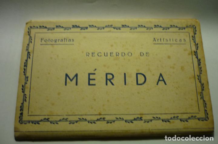 TACO ACORDEON MERIDA.-EDICIONES ARRIBAS --SON DE COLOR MARRON CM (Postales - España - Extremadura Antigua (hasta 1939))