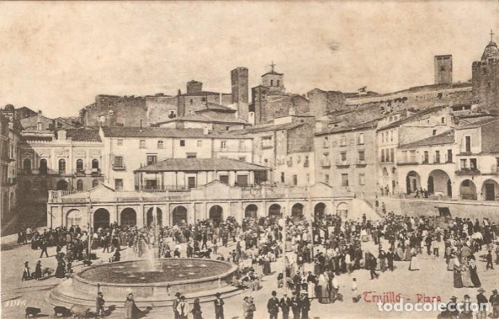 TRUJILLO Nº 3 PLAZA EDITA A DURÁN SIN CIRCULAR (Postales - España - Extremadura Antigua (hasta 1939))