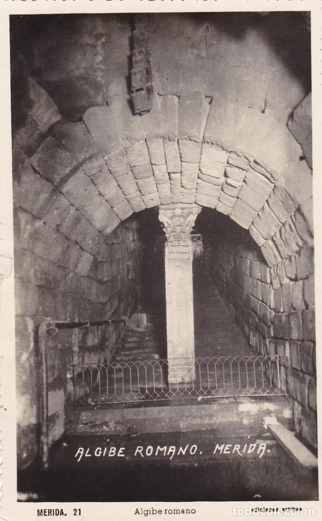 BADAJOZ MERIDA ALGIBE ROMANO. ED. ARRIBAS. Nº 21. SIN CIRCULAR (Postales - España - Extremadura Antigua (hasta 1939))