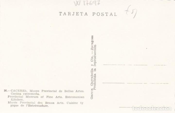 Postales: CACERES MUSEO PROVINCIAL COCINA EXTREMEÑA. ED. GARRABELLA Nº 36. SIN CIRCULAR - Foto 2 - 268455714