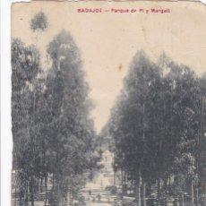 Postales: BADAJOZ PARQUE DE PI Y MARGALL. ED. VIUDA DE CLARAMON Nº 8. CIRCULADA EN 1911. Lote 268742959