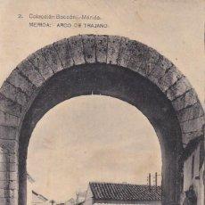 Postales: BADAJOZ MERIDA ARCO DE TRAJANO. ED. BOCCONI, HAUSER Y MENET Nº 2. CIRCULADA EN 1926. Lote 268744734