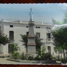 Postales: FOTO POSTAL DE VILLANUEVA DE LA SERENA, BADAJOZ, PLAZA DE CANALEJAS Y MONUMENTO AL SAGRADO CORAZON D. Lote 269342053