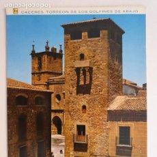 Postales: CÁCERES - TORREÓN DEL PALACIO DE LOS GOLFINES DE ABAJO - CIRCULADA - LAXC - P53611. Lote 270899588