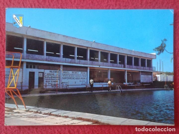 POST CARD MIAJADAS CÁCERES Nº 1 PISCINA LA PERLA PISCINE POSTALES SAN-PI 1972 CARTELES PUBLICIDAD... (Postales - España - Extremadura Moderna (desde 1940))