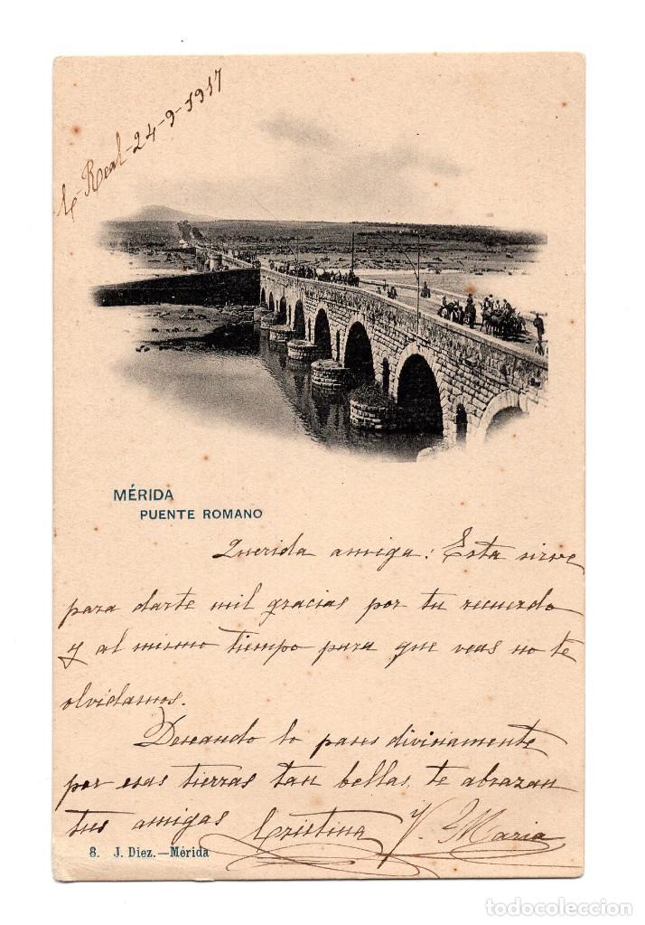 MÉRIDA.(BADAJOZ).- PUENTE ROMANO. (Postales - España - Extremadura Antigua (hasta 1939))
