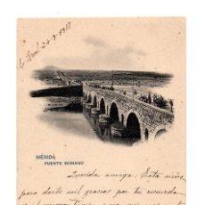 Postales: MÉRIDA.(BADAJOZ).- PUENTE ROMANO.. Lote 273285458