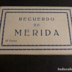 Postales: MERIDA BADAJOZ CUADERNO 12 POSTALES DEPLEGABLE EDICION CASA VADILLO. Lote 275452278