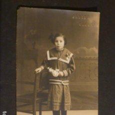 Postales: CACERES RETRATO DE NIÑA FOTO JAVIER FOTOGRAFO HACIA 1915. Lote 275880268