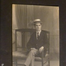 Postales: CACERES RETRATO DE HOMBRE FOTO JAVIER FOTOGRAFO HACIA 1915. Lote 275880333
