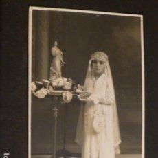 Postales: CACERES RETRATO DE NIÑA PRIMERA COMUNION FOTO JAVIER FOTOGRAFO HACIA 1915. Lote 275882988