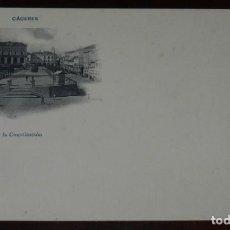 Postales: CACERES, PLAZA DE LA CONSTITUCION, FOT. ECHALUCE, SIN CIRCULAR Y SIN DIVIDIR, PAPELERIA ALCOYANA. Lote 286307688
